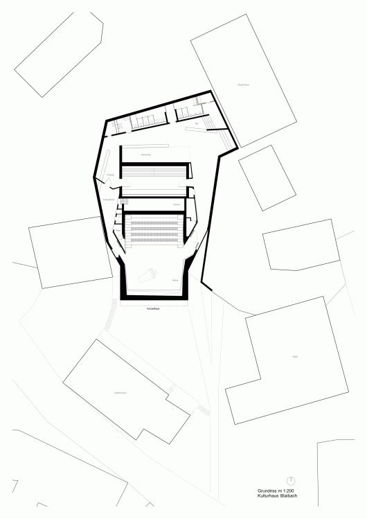 Concert hall blaibach peter archdaily - Architektur plan ...