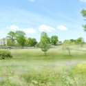 "SANAA's First US Commission Since Pritzker, ""The River"" Underway in Connecticut Exterior view of The River from the wetlands. Image Courtesy of Grace Farms and SANAA"