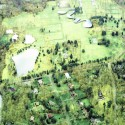 """SANAA's First US Commission Since Pritzker, """"The River"""" Underway in Connecticut Aerial. Image Courtesy of Grace Farms and SANAA"""