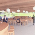 "SANAA's First US Commission Since Pritzker, ""The River"" Underway in Connecticut Interior view of the dining room. Image Courtesy of Grace Farms and SANAA"