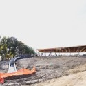 """SANAA's First US Commission Since Pritzker, """"The River"""" Underway in Connecticut Grace Farms under construction October 2014. Image Courtesy of Grace Farms and SANAA"""