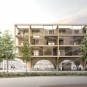 JAJA Wins Second Prize for Swedish Housing and Market Hall Hybrid Mainstreet . Image © JAJA Architects