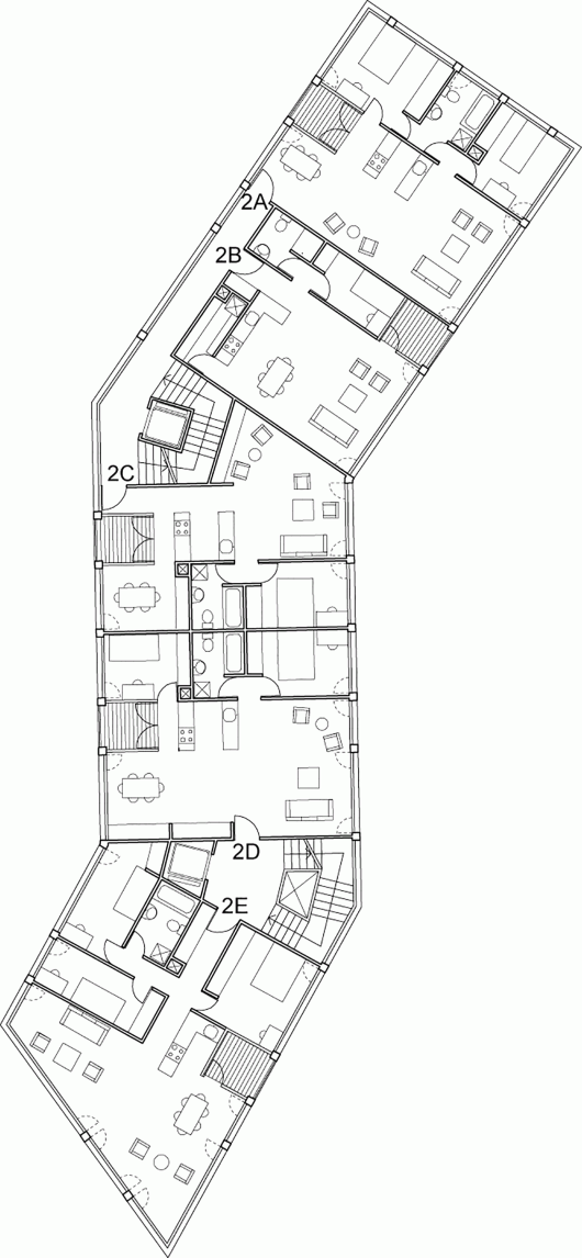 Affordable housing at the edge of the city the practitionerd for Affordable housing floor plans