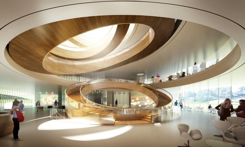 Штаб-квартира Международного Олимпийского комитета в Швейцарии. Проект 3XN