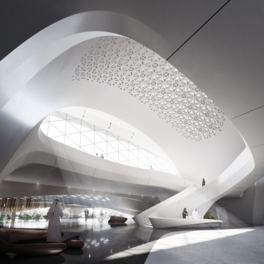 zaha hadid designs dune inspired net zero headquarters for