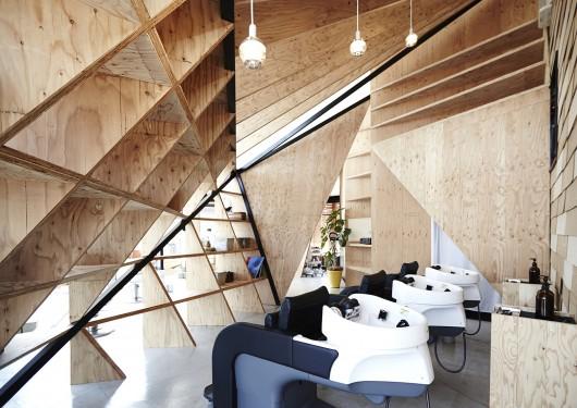 طراحی آرایشگاه SLUNDRE  در ژاپن