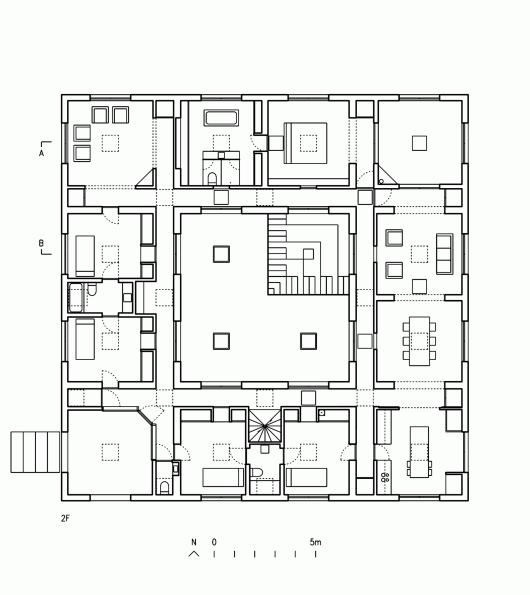 Guna house pezo von ellrichshausen archdaily for Copying house plans