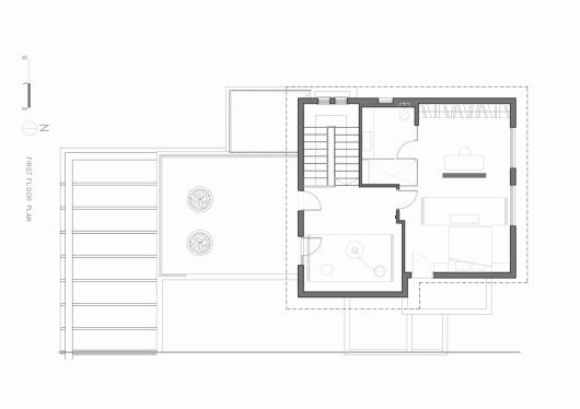 "A Modern ""Kibbutz"" House / Henkin Shavit Architecture & Design 54bf25c4e58ece56370001b3 a modern kibbutz house henkin shavit architecture design first floor plan 530x374"