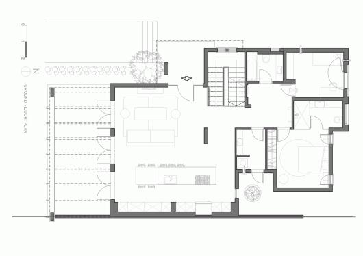 "A Modern ""Kibbutz"" House / Henkin Shavit Architecture & Design 54bf25cbe58ece1abf0001dc a modern kibbutz house henkin shavit architecture design ground floor plan 530x374"