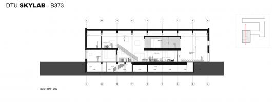 DTU Skylab / Juul Frost Arkitekter 54c83c08e58ece457a000121 dtu skylab juul frost arkitekter section 530x200
