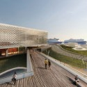 Tsabikos Petras Wins First Prize for Greek Archaeology Museum Proposal Overlooking the urban deck. Image Courtesy of  Tsabikos Petras Architectural Studio