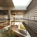 Tsabikos Petras Wins First Prize for Greek Archaeology Museum Proposal View from interior atrium. Image Courtesy of  Tsabikos Petras Architectural Studio