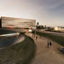 Tsabikos Petras Wins First Prize for Greek Archaeology Museum Proposal View from the landscape entrance. Image Courtesy of  Tsabikos Petras Architectural Studio