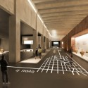 Tsabikos Petras Wins First Prize for Greek Archaeology Museum Proposal View from the exhibition area. Image Courtesy of  Tsabikos Petras Architectural Studio