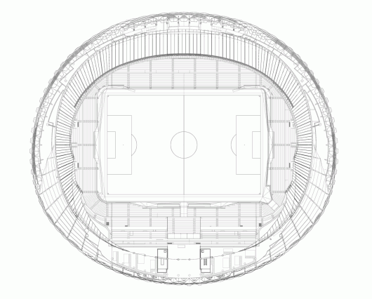 Hazza Bin Zayed Stadium Pattern Design ArchDaily
