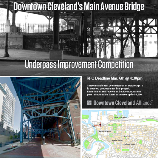 Competition Seeks Architects to Redesign Downtown Cleveland's Main Avenue Bridge Underpass