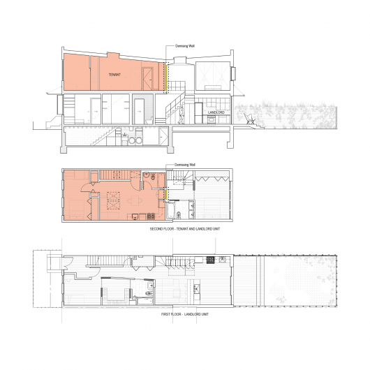 Brooklyn row house office of architecture archdaily Top rated floor plans