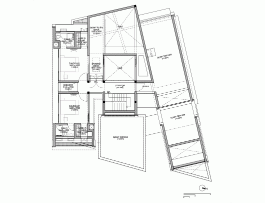 The skewed house lijo for Plot plan drawing software