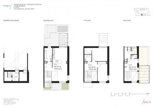Kalasataman Huvilat Townhouses Portaali Architects Ltd