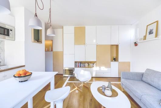 طراحی داخلی آپارتمان 30 متری مینیمال (به همراه پلان)