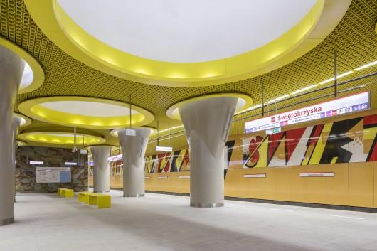 طراحی خط 2 مترو ورشو لهستان