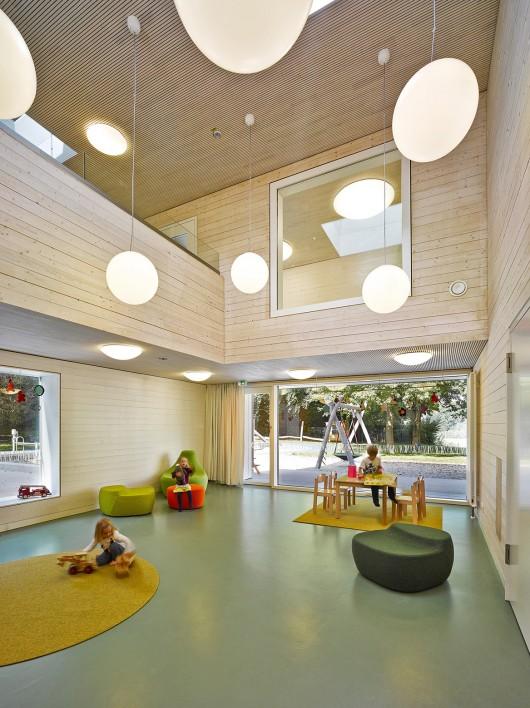 Familienzentrum Im Steinpark Kindergarten Nbundm Archdaily