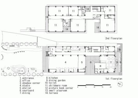 پلان مهدکودک،طراحی مهدکودک،پلان اجرایی مهدکودک،نقشه فاز 2 مهدکودک