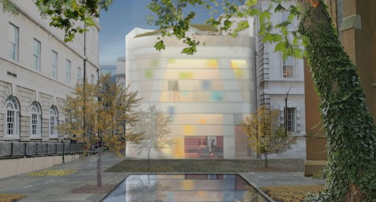 Steven Holl Breaks Ground on Maggie's Centre Barts in London 55787b5ce58eced628000026 steven holl breaks ground on maggie s centre barts in london sha 02 maggies 15 06 08 pool exterior 530x286